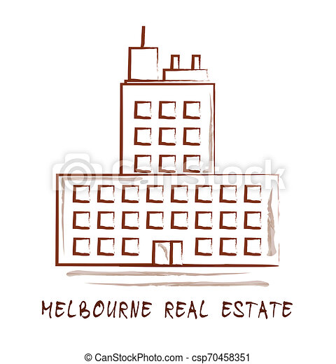 Melbourne Real Estate Property Building Representing Australian Realty In Victoria - 3d Illustration - csp70458351