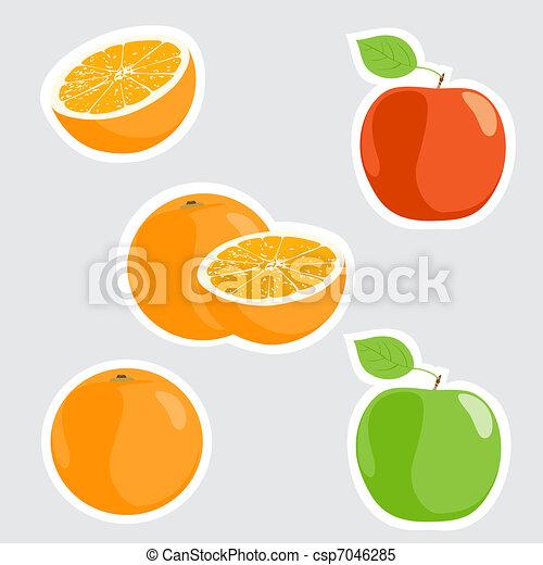 mele, arance - csp7046285