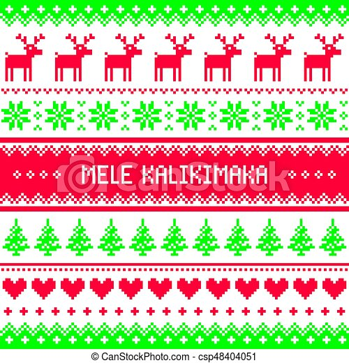 mele kalikimaka merry christmas in hawaiian greetings card seamless pattern csp48404051 - Merry Christmas In Hawaii