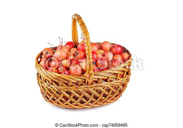 mele, vimine, granchio, cesto - csp74959495