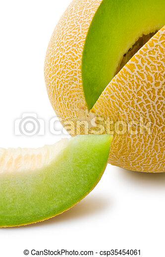 Melon honeydew and melon slice - csp35454061