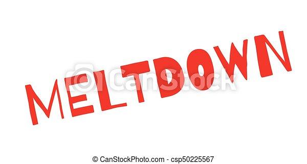 Meltdown rubber stamp - csp50225567