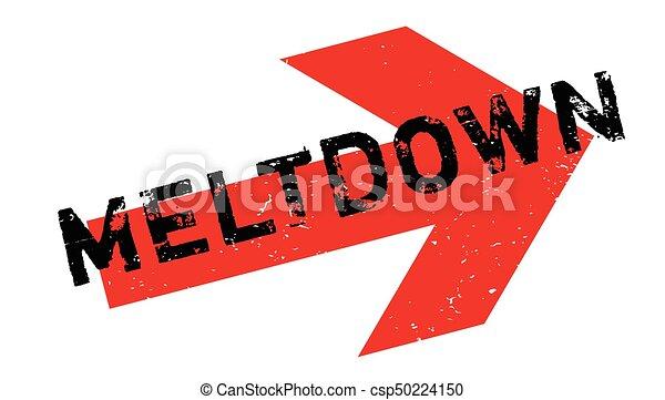 Meltdown rubber stamp - csp50224150