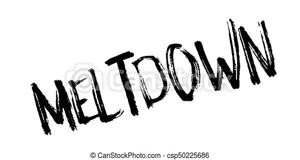 Meltdown rubber stamp - csp50225686