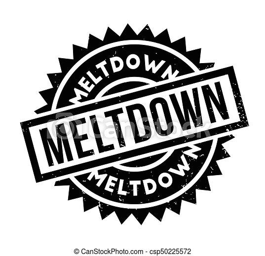 Meltdown rubber stamp - csp50225572