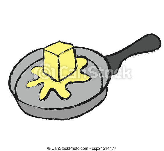 melted butter on pan stock illustrations search eps clipart rh canstockphoto com free clipart pan pan clipart png