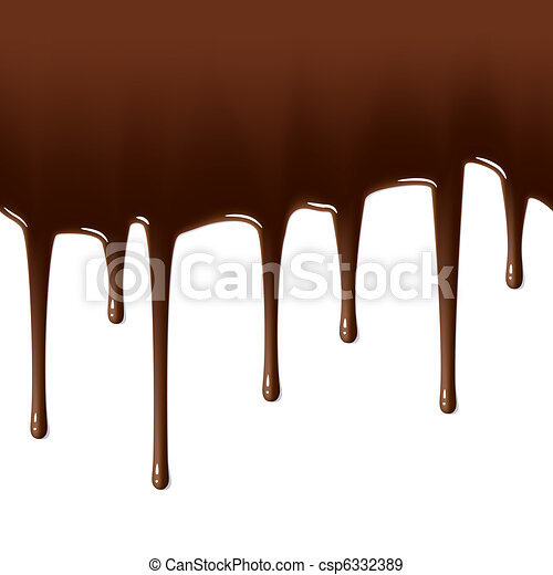 Melted chocolate dripping - csp6332389