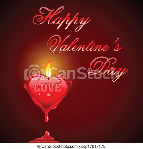 Melting heart EPS Clip Art   csp17017175