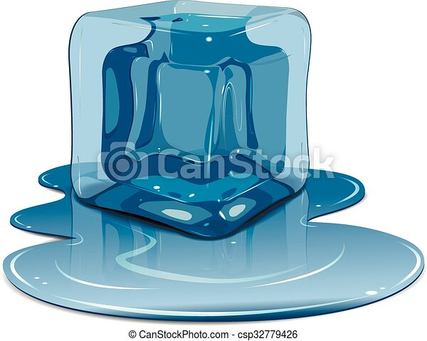 Melting ice cube - csp32779426