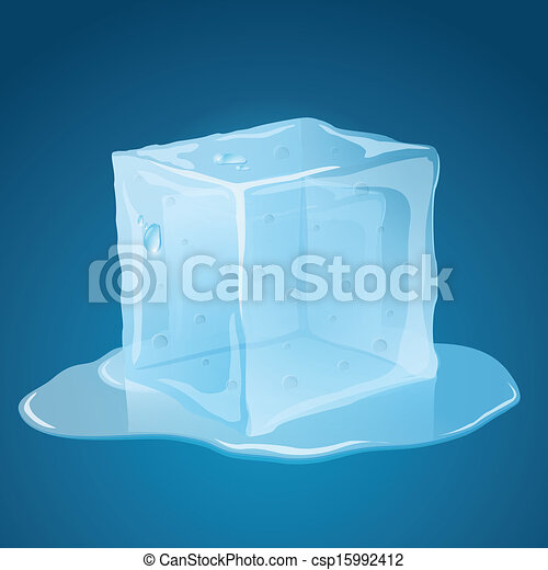 Melting Ice Cube - csp15992412