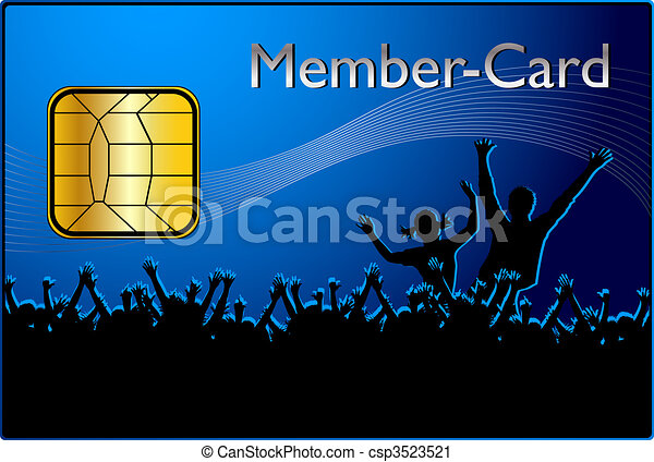 Member Card Clipart  Search Illustration Drawings And Vector Eps