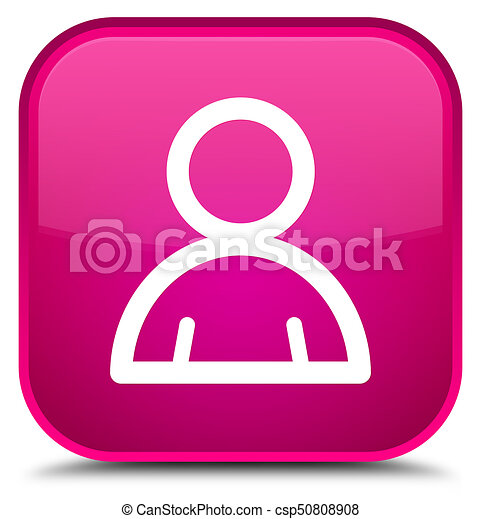 Member icon special pink square button - csp50808908