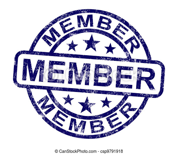 Member Stamp Shows Membership Registration And Subscribing - csp9791918