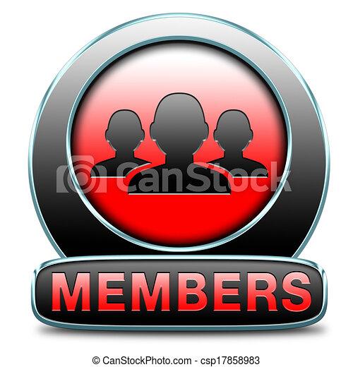 members icon - csp17858983