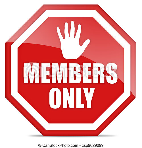 Members only icon - csp9629099