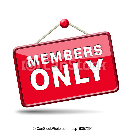 members only sign - csp16357291