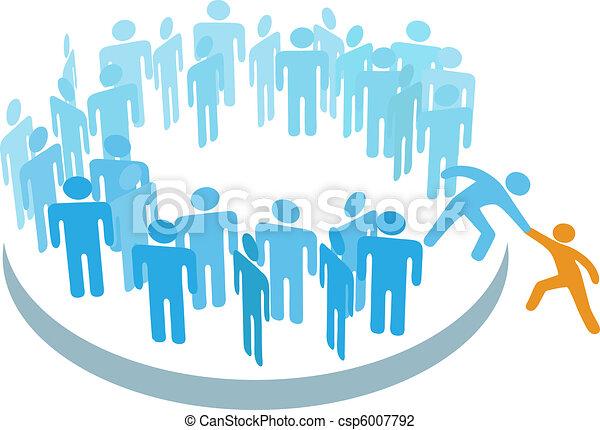 membro, grupo, ajuda, pessoas, grande, novo, juntar - csp6007792