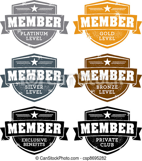 Memership Level Badges - csp8695282