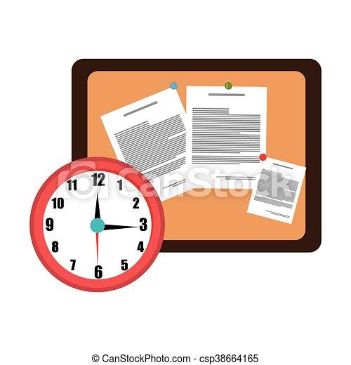 memo board office isolated icon design - csp38664165