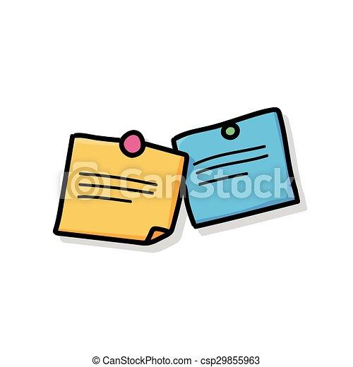 memo doodle - csp29855963