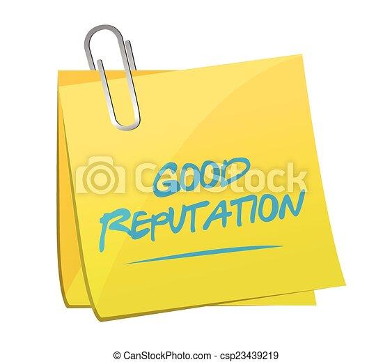 Buena reputación publicando ilustraciones - csp23439219