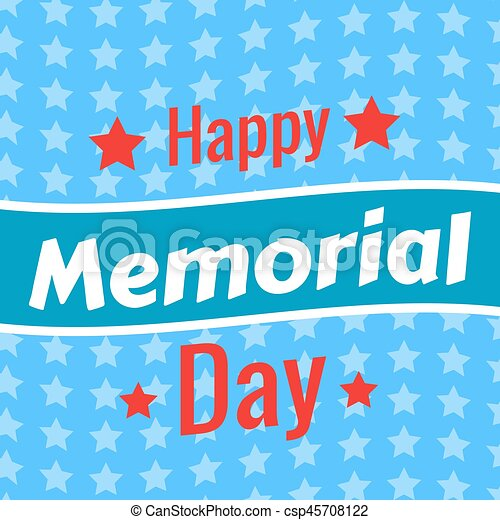 Memorial Day background - csp45708122