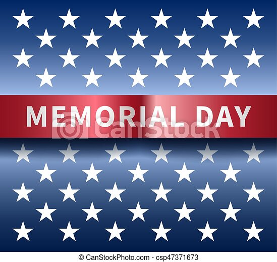 Memorial day background - csp47371673