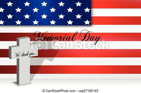 Memorial Day background, last monda - csp27165143