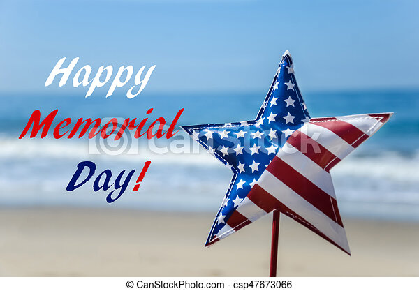 Memorial day background on the beach - csp47673066