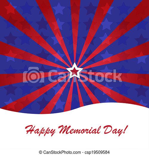 Memorial day background - csp19509584