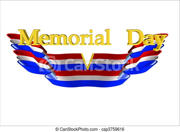memorial day background - csp3759616