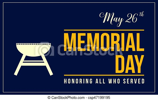 Memorial day background style collection - csp47199195