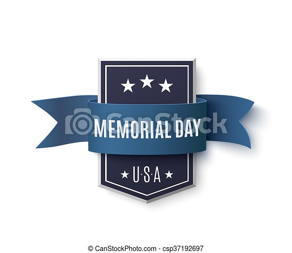 Memorial Day background template. - csp37192697