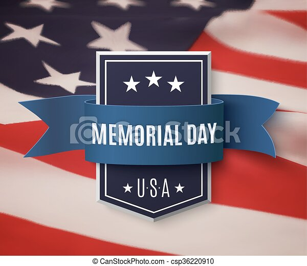 Memorial Day background template. - csp36220910