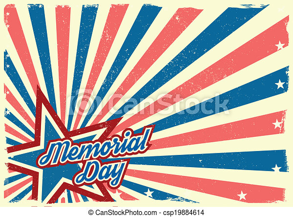 Memorial Day background - csp19884614
