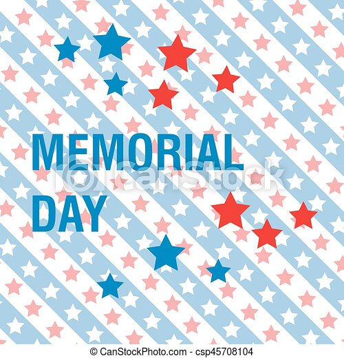 Memorial Day background - csp45708104