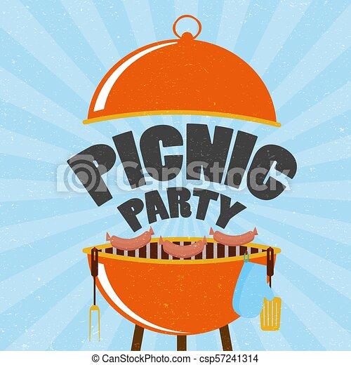 Memorial day barbecue. flyer card invitation template. vector ...