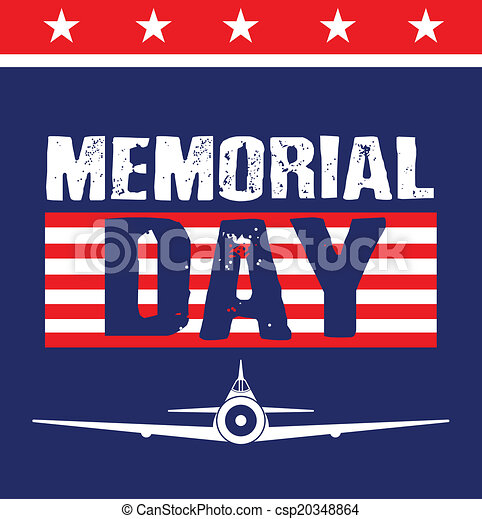 Memorial Day Card image. - csp20348864