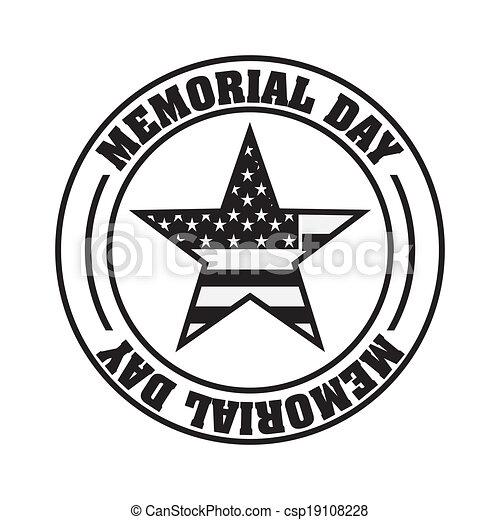 Attractive Memorial Day Design   Csp19108228