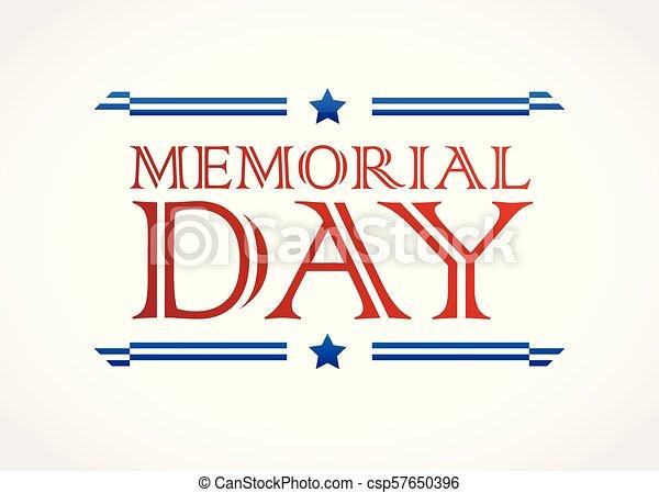 Memorial Day design vector background - csp57650396