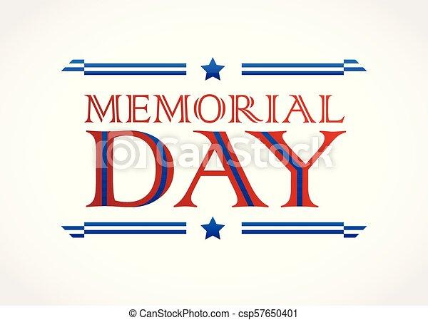 Memorial Day design vector background - csp57650401
