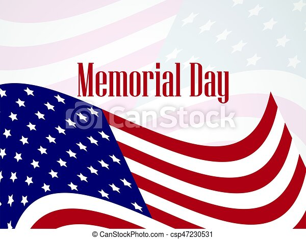 memorial day national american holiday banner template vector