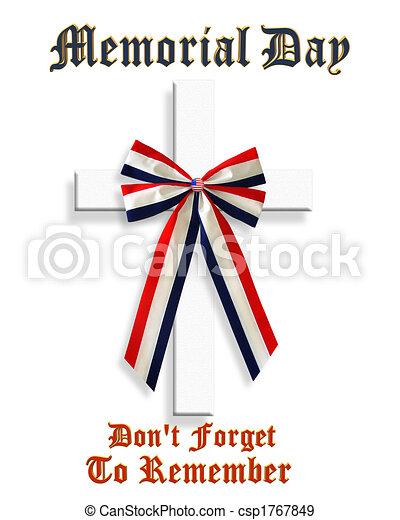 Memorial Day Patriotic Graphic 3D - csp1767849