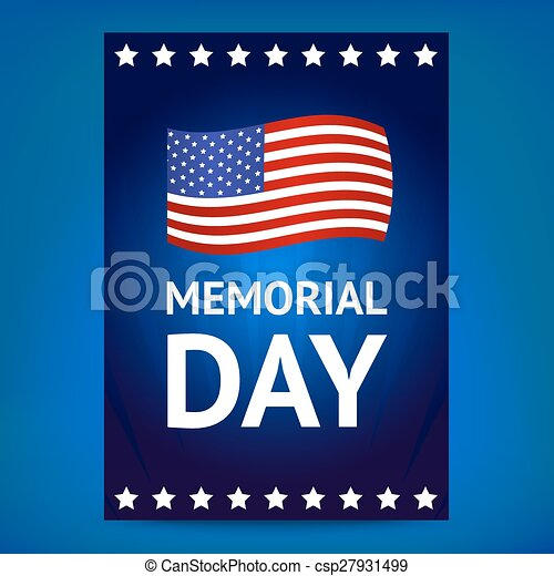 memorial day poster with flag dark blue memorial day poster with a