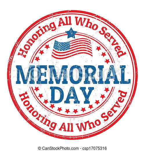 Memorial day stamp - csp17075316