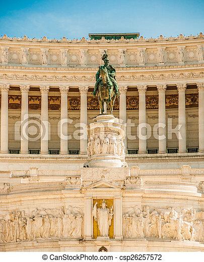 memorial Vittoriano, Rome - csp26257572