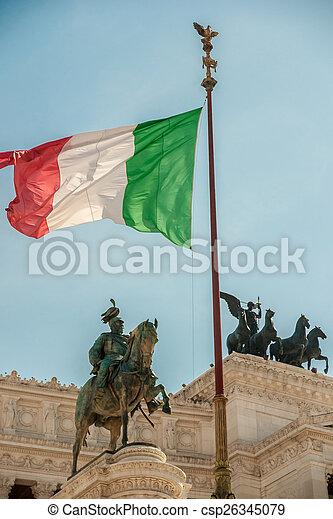 memorial Vittoriano, Rome - csp26345079