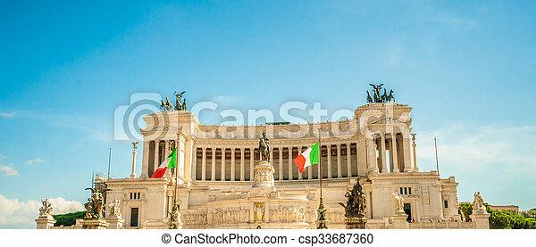 memorial Vittoriano, Rome - csp33687360