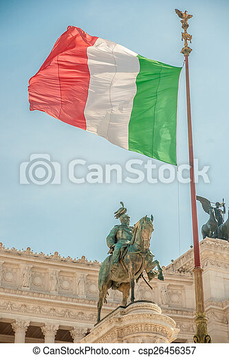 memorial Vittoriano, Rome - csp26456357