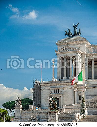 memorial Vittoriano, Rome - csp26456348
